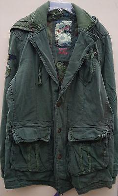 Women`s New JET LAG Hooded Military Parka Coat UK 18 (US 14, EU 46) 2XL Jacket