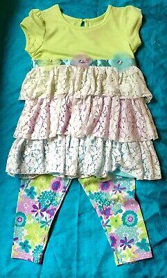 Nanette Kids size 6X lace Flower capri outfit Summer Rhinestone Cute! Boutique](Cute Childrens Boutiques)