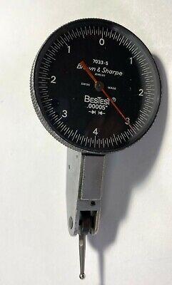 Brown Sharpe 599-7033-5 Bestest Dial Test Indicator .008 Range .00005