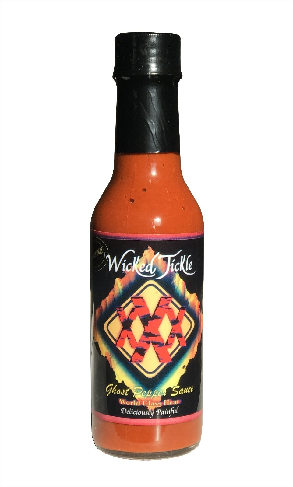 Ghost Pepper Hot Sauce Wicked Tickle XXX World's Hottest Chipotle Sauce Hottest