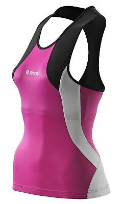 Skins Compression Triathlon Top - Schwarz/Pink - Damen XS - UVP 89,95