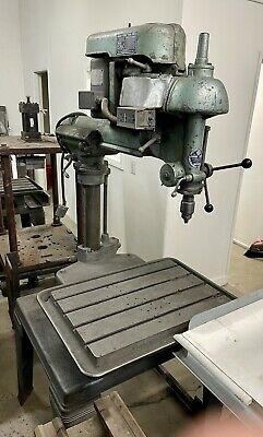 Vintage Walker-turner Radial Arm Drill Press 14 78 Throat 26 X 18 Table