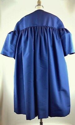 Elizabeth Kennedy Ottoman Silk Cobalt Blue Evening Coat