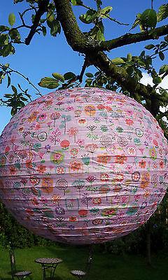 Lampenschirm Lampion Papier Japan 40cm Schirm Lampe Flieder Rosa Kinderlampe