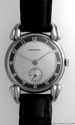 Rare Vintage Longines Huge Fancy Lugs Retro Mens Wrist Watch