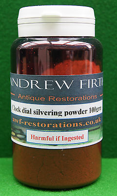 Antique clock dial silvering powder100g (for restoration of antique clock dials)