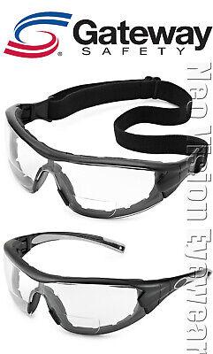 Gateway Swap Mag Bifocal Foam Padded Safety Glasses Hybrid Goggles Anti Fog Z87