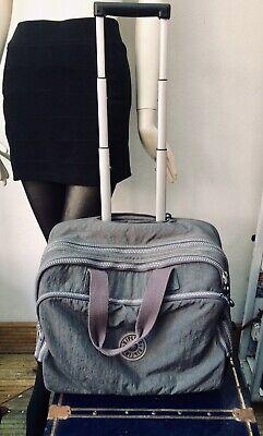 Kipling Grey laptop trolley Cabin Case Bag On Wheels
