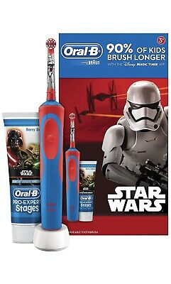 Oral-B Stages Power Kids Electric Toothbrush and Toothpaste Gift Set - Star...