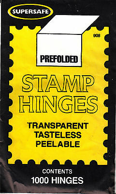 1 UNOPENED PACK OF SUPERSAFE STAMP HINGES 1000 FOLDED LOWEST PRICES ON EBAY