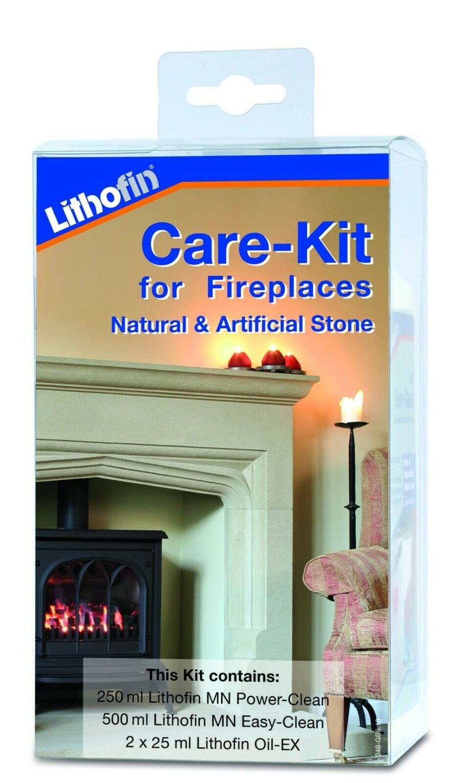Lithofin Care Kit For Artificial & Natural Stone Fireplaces