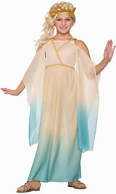 Girls Lovely Goddess Costume Greek Roman Aphrodite Athena Size Medium 8-10