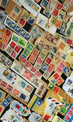 100   World  Postage Stamp Far East China Japan Hong Kong Mix Of Different Lands