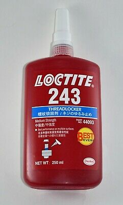 Loctite 243 Threadlocker Medium Strength 250ml Tube. Expiration Date 122022
