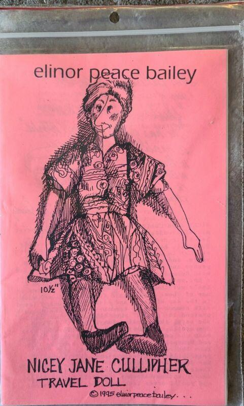"Elinor Peace Bailey ""Nicey Jane Cullipher Travel Doll"" Doll Pattern"