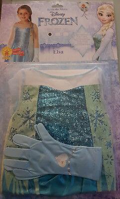 Prinzessin Elsa Die Eiskönigin Frozen Kleid & Handschuhe S & M - Frozen Kostüm S