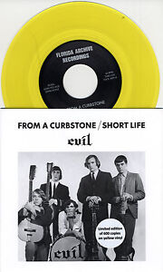 EVIL-From-A-Curbstone-Swiss-yellow-vinyl-7-Montells-NEW-600-copies
