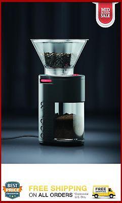 Bodum BISTRO Electric Burr Coffee Grinder, Plastic, Black
