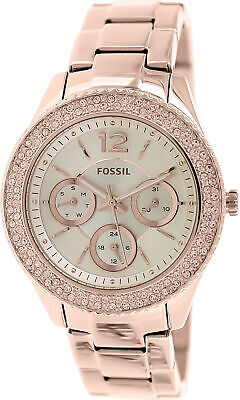 Fossil Women's Quartz Stainless Steel Dress Watch, Color:Ros