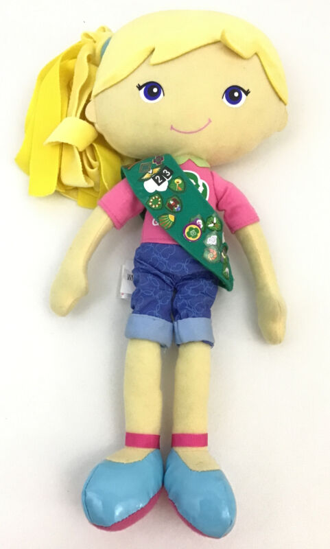 Chloe Girl Scout Friendship Doll SOFT Doll Yottoy With Sash Badges