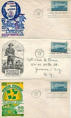 Better Collection 16 Diff SWEDISH SWEDEN PIONEERS to Middle West USA 1948