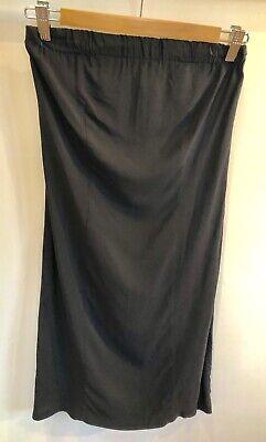 Jucca Size 42 Strapless Black Dress LBD Italian Designer