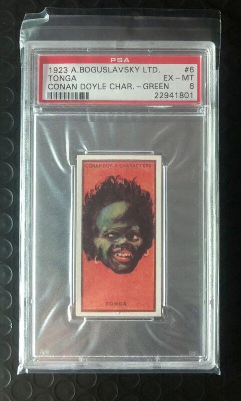PSA 6 POP1 🔥TONGA 1923 Cigarette Card #1 Conan Doyle Characters 🔥VERY RARE 🔥