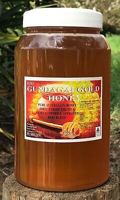 100% PURE RAW 2.8KG AUSTRALIAN HONEY UNPASTEURIZED Direct from the Beekeeper