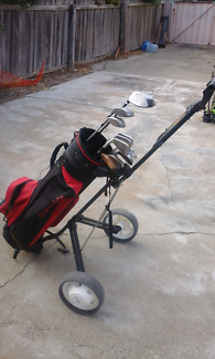 Full set of clubs bag and buggy