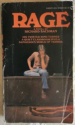 Rage 1st Edition and 1st Printing by Richard Bachman (Stephen King)