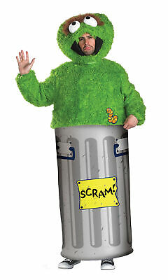 Sesame Street Retro Oscar The Grouch Mens Mascot Character Halloween Fun Costume