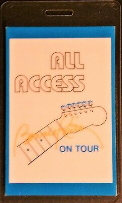 **** BONNIE RAITT **** LAMINATED ALL ACCESS BACKSTAGE PASS - 1986 TOUR - VINTAGE