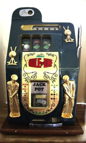 Mills HOLE IN ONE 25 Cent GOLF MOTIF Slot Machine. Reproduction. Works