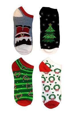 Christmas Holiday Fun Socks for Women Gift, 4 Pack Novelty Funny Socks Sz 9-11 (Christmas Fun For Adults)