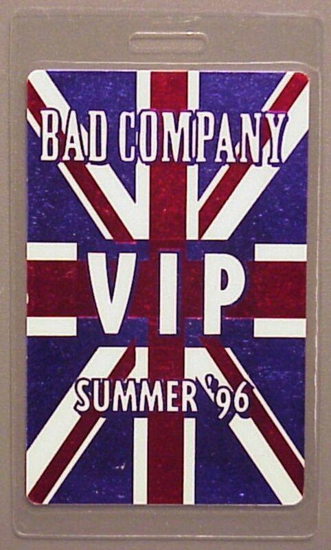 Bad Company backstage pass Laminated Summer 96 Beautiful full color English Flag