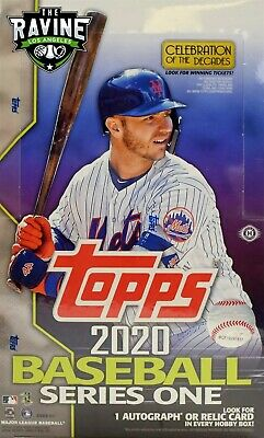2020 Topps Series 1 Baseball Sealed Hobby Box 1 Silver Pack 1 Auto or Relic Card