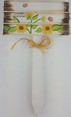 HAPPY EASTER WELCOME SPRING YARD SIGN STAKE SUN FLOWER  13