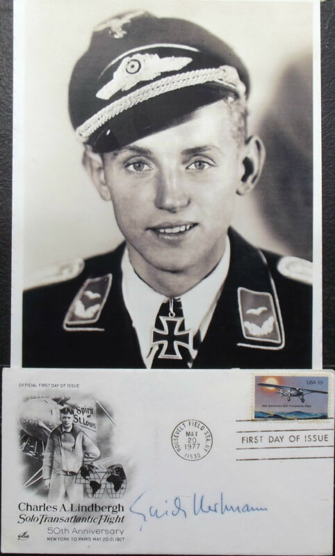 Erich Hartmann German All Time Highest Ace 352 Victories WW II Signed Cover #2