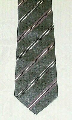 Krawatte Kravatte Binder HUGO BOSS  dunkelblau/lila/weiß gestreift-100% Seide
