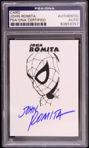 1966 circa John Romita Spiderman Signed Trading Card (PSA/DNA Slabbed)