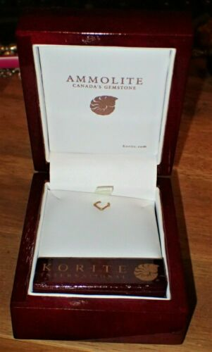 Korite International Canadian Ammolite, Ammonite Empty Wooden display Box