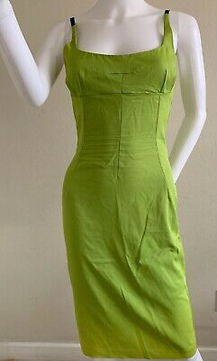 Dolce and Gabbana Vintage Fitted Lime Green women Dress size EU 26/40