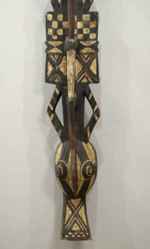 Mask African  Bwa Plank Crocodile Mask