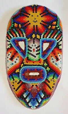 Huichol Beaded Sun Mask Peyote Native American Art Mexico Native Art Masks
