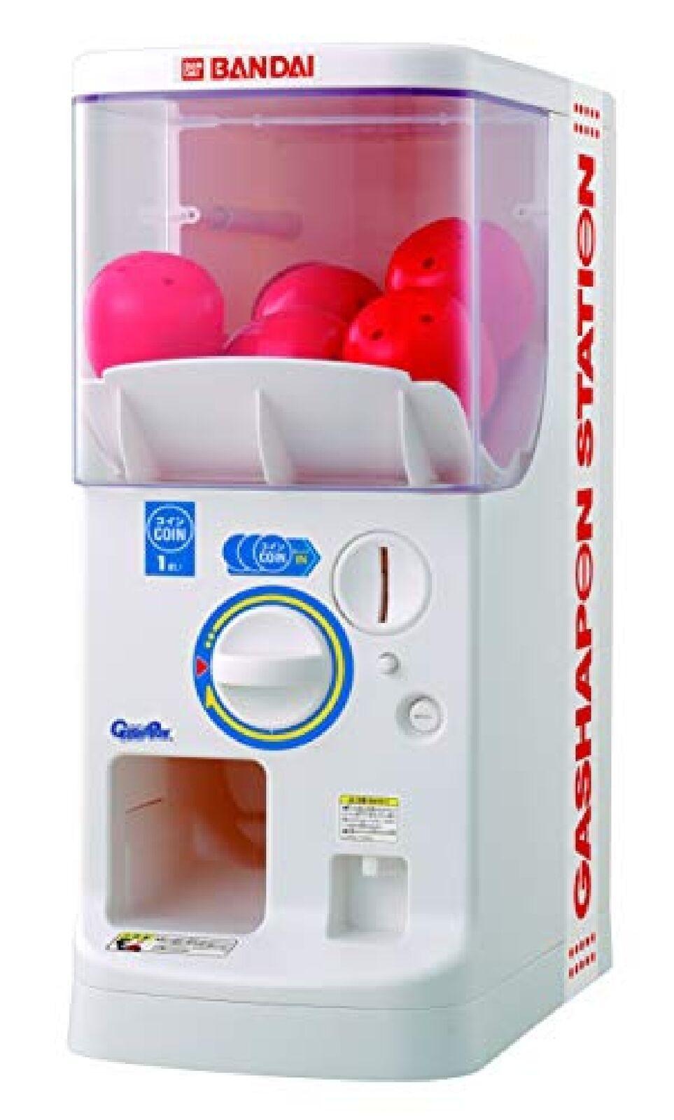 Bandai Official Gashapon Gachapon Machine Plus 12xCapsule 4xCoin Station Toy