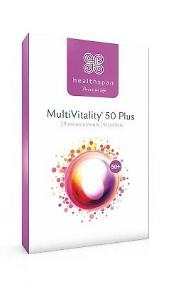 Multivitamin for Over 50's with 13 Vitamins & 12 Minerals 90 Tablets Healthspan