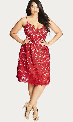 CITY CHIC So Fancy Lace Dress plus size 14 XS