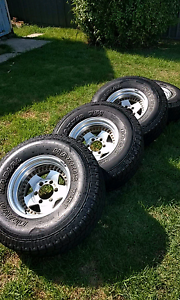 Jdm 4x4  alloy wheels 15x8 -29  32x11.5 tyres Marmong Point Lake Macquarie Area Preview
