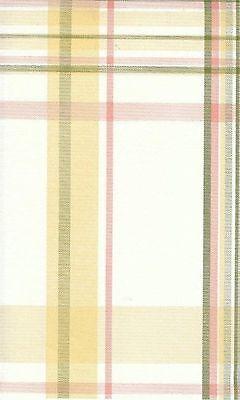 Wallpaper Large Pink, Green, Yellow & Cream Pastel Plaid
