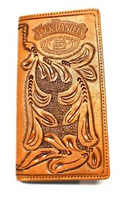 4457d5fe8cb6f Jack Daniels Embossed Rodeo   Roper Style Wallet Tooled Leather - New in Tin